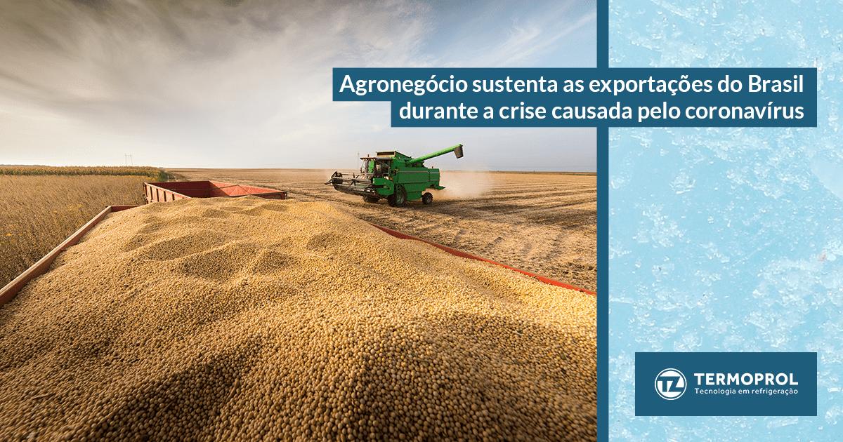 Agronegócio sustenta as exportações do Brasil durante a crise causada pelo coronavírus