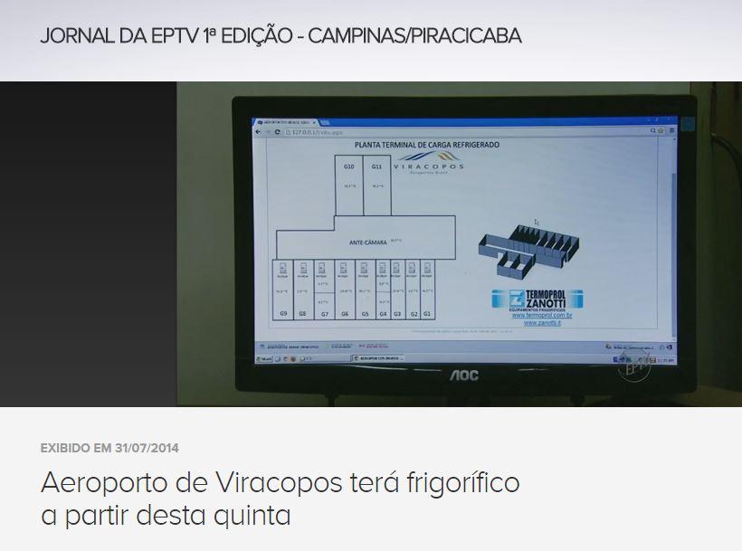 Instalações frigoríficas do Aeroporto de Viracopos completam 01 ano