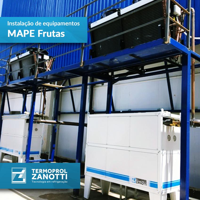 Instalação de equipamento Termoprol: MAPE Frutas